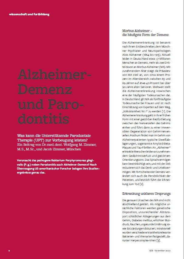 Alzheimer-Risiko durch Parodontitis