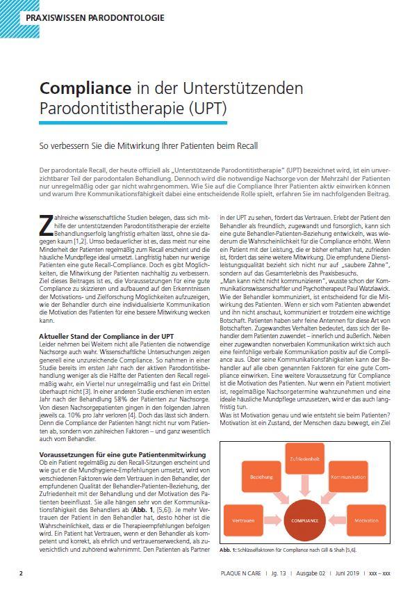Welche Möglichkeiten hat der Behandler, die Compliance seiner Patienten zu verbessern?